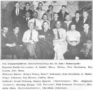 Generalforsamling i DAI Fodbolddommerklub i 1935